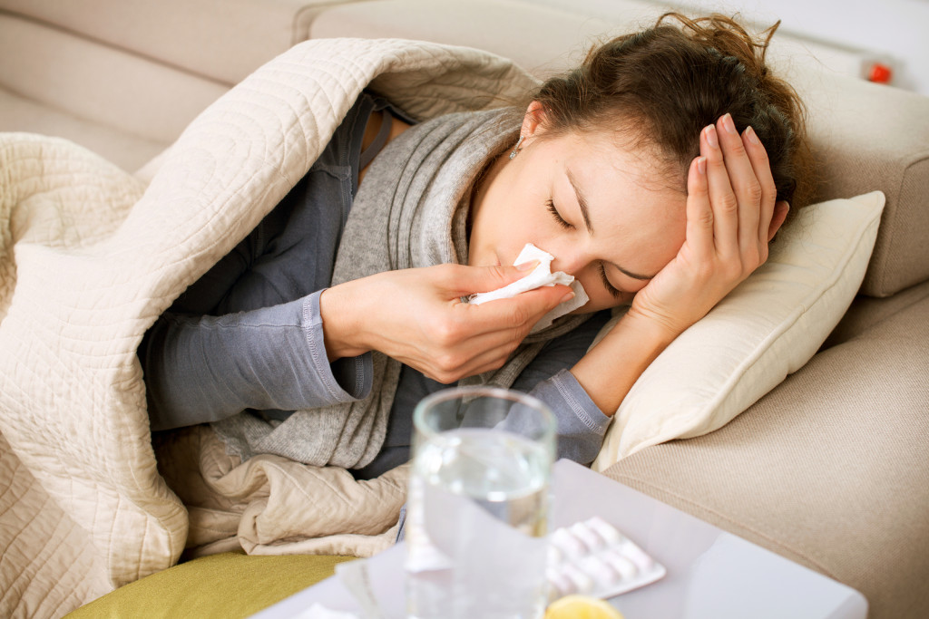 bigstock-Sick-Woman-Flu-Woman-Caught-Co-39028732